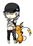 Commission - Opal and her Raichu by LVStarlitSky