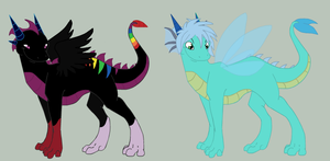 Dragon Adopts 2 ONLY ONE DRAGON LEFT! by SkylarCat
