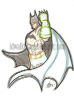 Batman with Kryptonite Gloves by IanDWalker