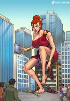 Queen Goddess Diana by giantess-fan-comics