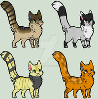 Cat adoptables batch 1 - OPEN by Zelda-adopts