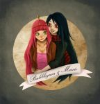 Bubblegum and Marcie by Nuditon