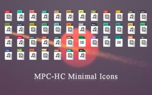 MPC-HC Minimal Icons by AdzeArts