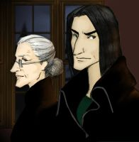 Minerva and Severus- Autumn, 1998- Illustration by JosieCarioca
