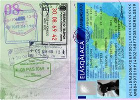 Pearl Islands Passport Stamp Page 2 by requindesang