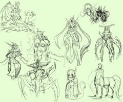 Fantasy Sketchs 00x1 by ManiacPaint