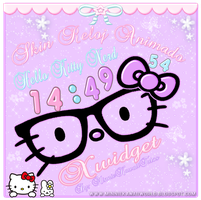 Hello Kitty Nerd Clock For Xwidget (reloj animado) by MinnieKawaiiTutos
