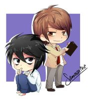 Death note chibis by keitenstudio