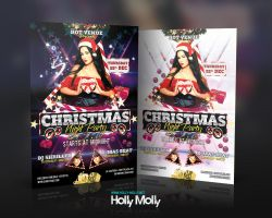 Christmas Night Party Flyer by imagingdc