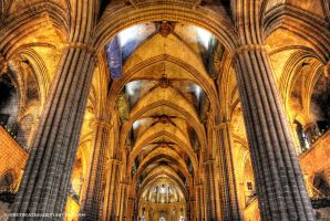 Barcelona Cathedral - Interior 1 by Greyscale87