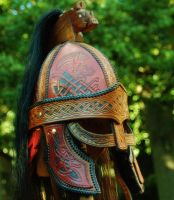 Beowulf Norse style helmet by AlexOstacchini