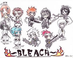 Bleach Chibi Characters by crazygundamfan12