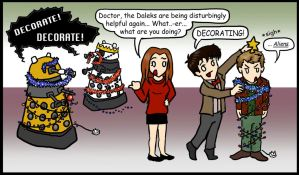 DW: Christmas, the alien way.. by blackbirdrose