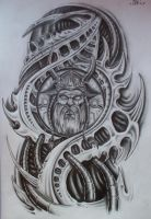 finished viking biomech by karlinoboy