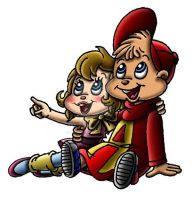 Alvin with Brittany by Peacekeeperj3low