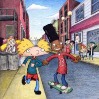 Hey Arnold - cover art, promo by ArnoldMania