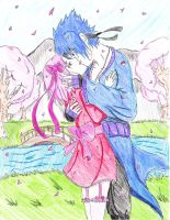 sasusaku garden of love by twinLtwinV
