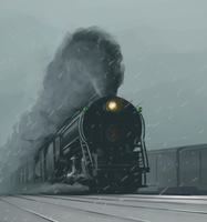 NYC In the snow by NE-Railway-Artist