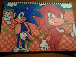 Sonic and Knuckles Fanart! by AxelRaptr