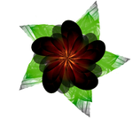 Fractal Manip. Stock - Dark Flower by rockgem