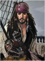 Captain Jack Sparrow by AzureZefer