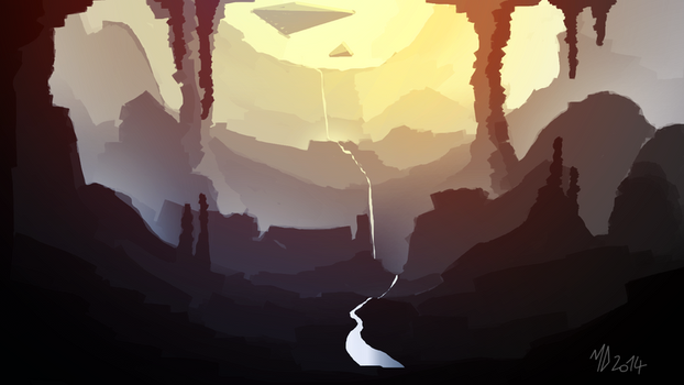 Speed Painting - the cave by Yondasable