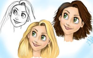 How To Draw- Rapunzel by AnnieIsabel