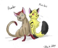 Prowler and Minibee by StrixMoonwing