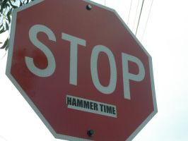 STOP. Hammer time. by Cartoon-punk