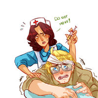 More Nurse!Mexico+ Soldier!USA [Also New SP!] by NerdyJones