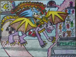 Sonic And Spyro To The Rescue by KambalPinoy