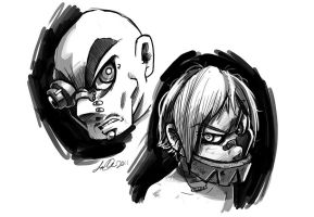 Bald Buy and Jaw Kid by SupaCrikeyDave