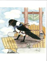 Magpie with saddle by LoD90