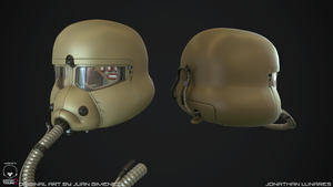 Sci-fi helmet High poly 1 by CougarJo