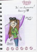 Joanna in HSM Notebook by Josabella