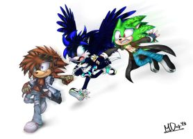 PC:Kuri, Angel, and Arrow for DarkKuri by MegaDISia