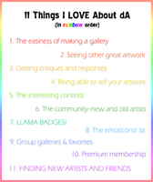 11 Things I Love About dA by zara-leventhal