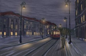 Cold Night In Warsaw 1939 by SorinCrecens