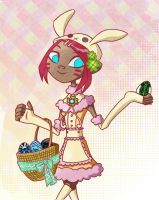 Easter Bunny Sari by CheshireP