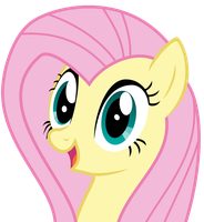 Excited Fluttershy by sakatagintoki117