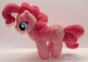 Mini Minky Pinkie plush (for sale!) by Shamblezz