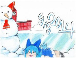 Cirno Day 2014 by Immortally--Twined