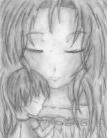 Peaceful Sleep - Pencil by Crystal-Luna