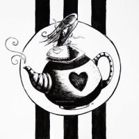 Alice and Teapot by DaffodilLament
