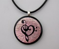 Custom Music Love Fused Glass by FusedElegance