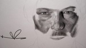 Norman Reedus signed WIP by PriscillaW
