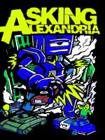 Asking Alexandria Pop Art Robo Monster by zombis-cannibal