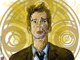 The 10th Doctor Regenerating by InvisibleDuck