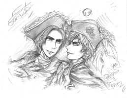 APH: Fritz and Prussia (rough sketch) by AryaMay