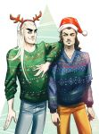 Merry Xmas from Thrandy and Bard. by JennieMaher